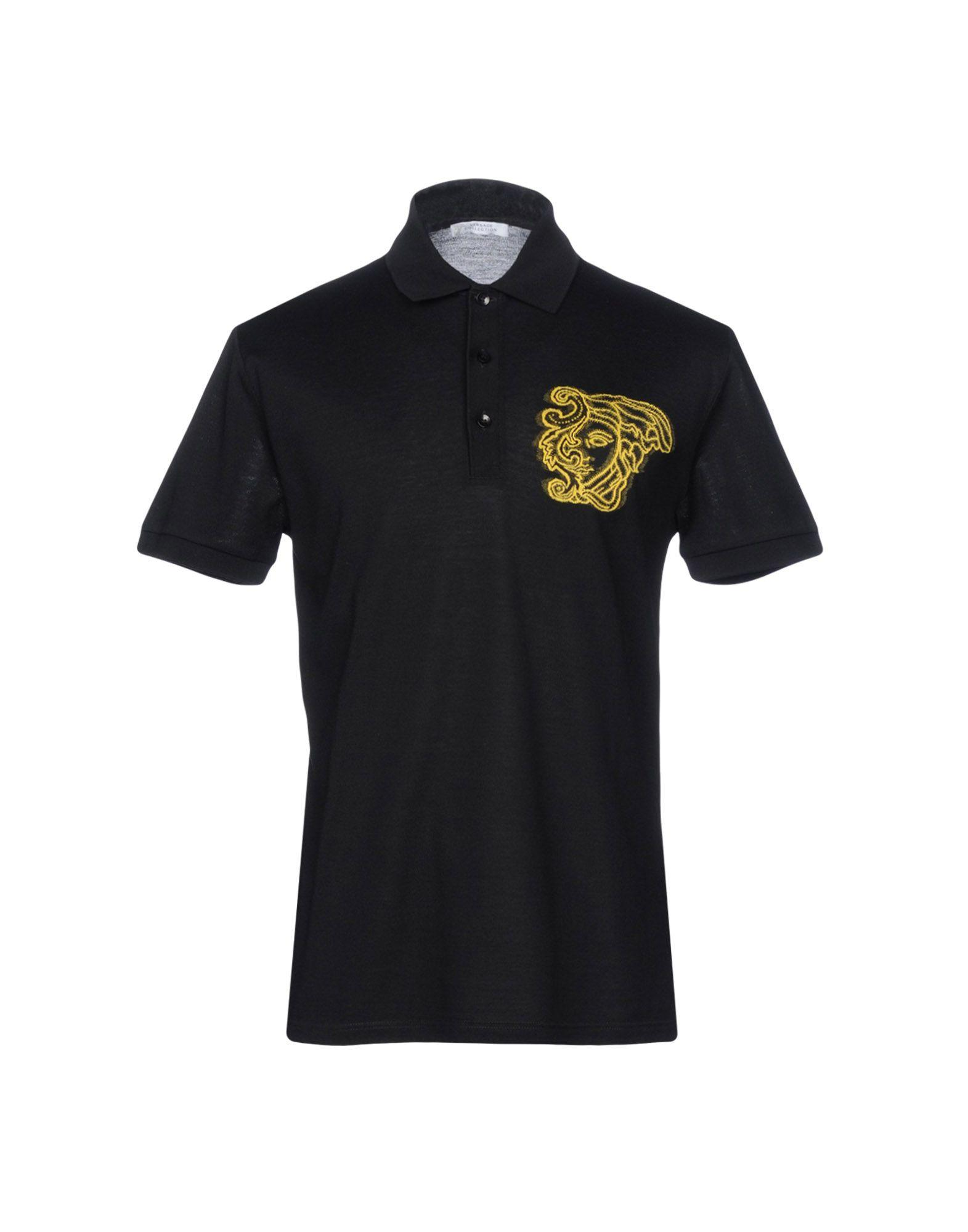 Versace Polo Shirt In Black