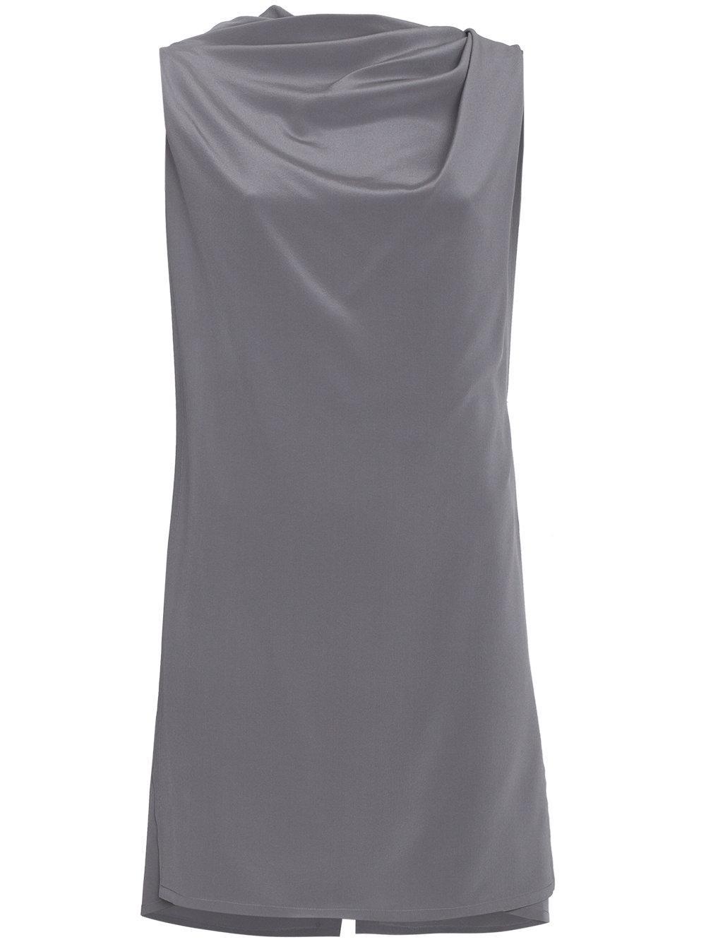 Rick Owens Grey Draped Sleeveless Top - Blue