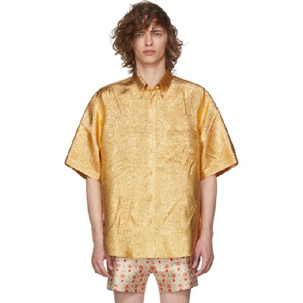 Gucci Gold Lurex Shirt In 7009