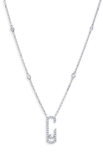 Messika By Gigi Hadid Move Addiction 18k Gold & Diamond Pendant Necklace In White Gold