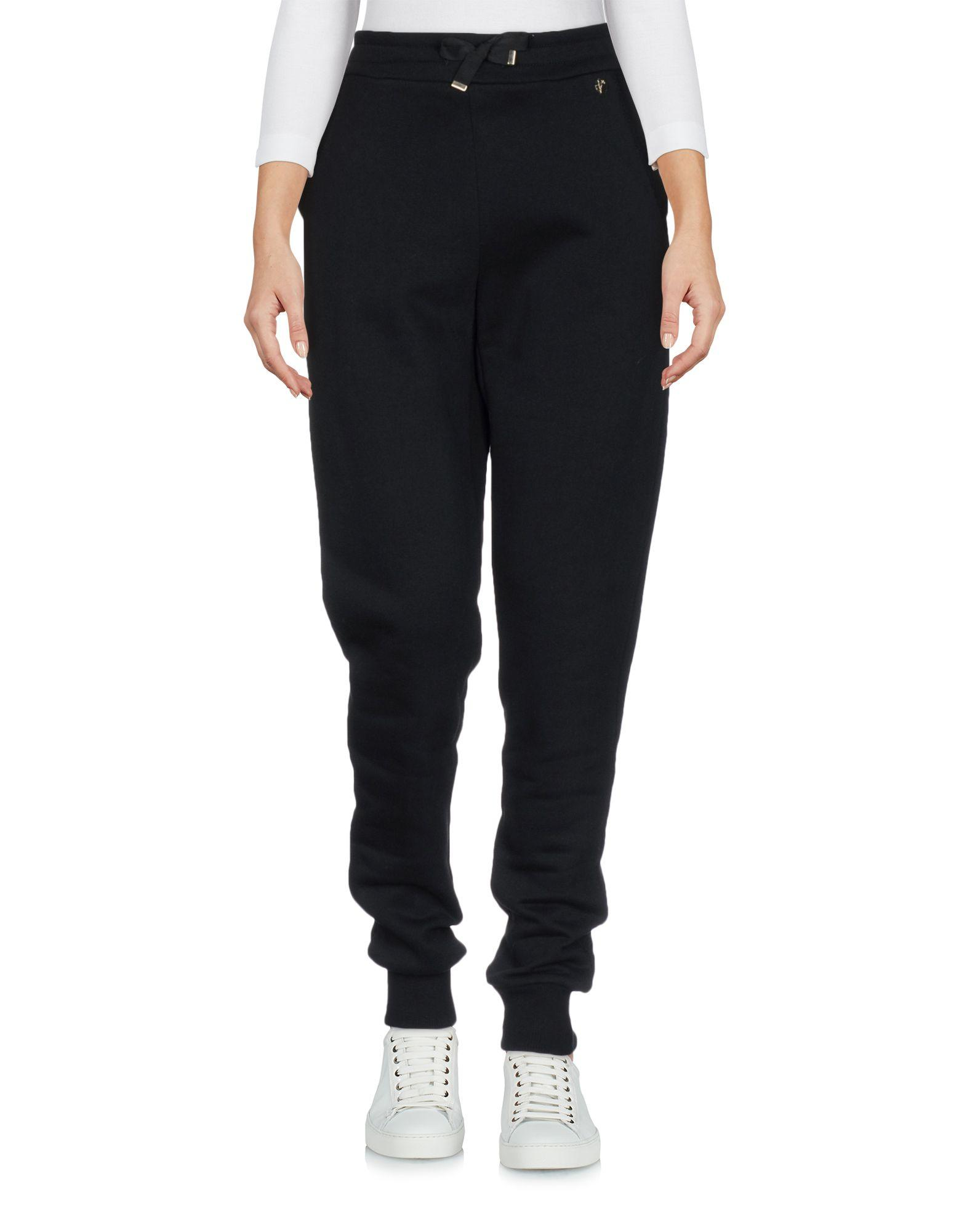 Versace Casual Pants In Black
