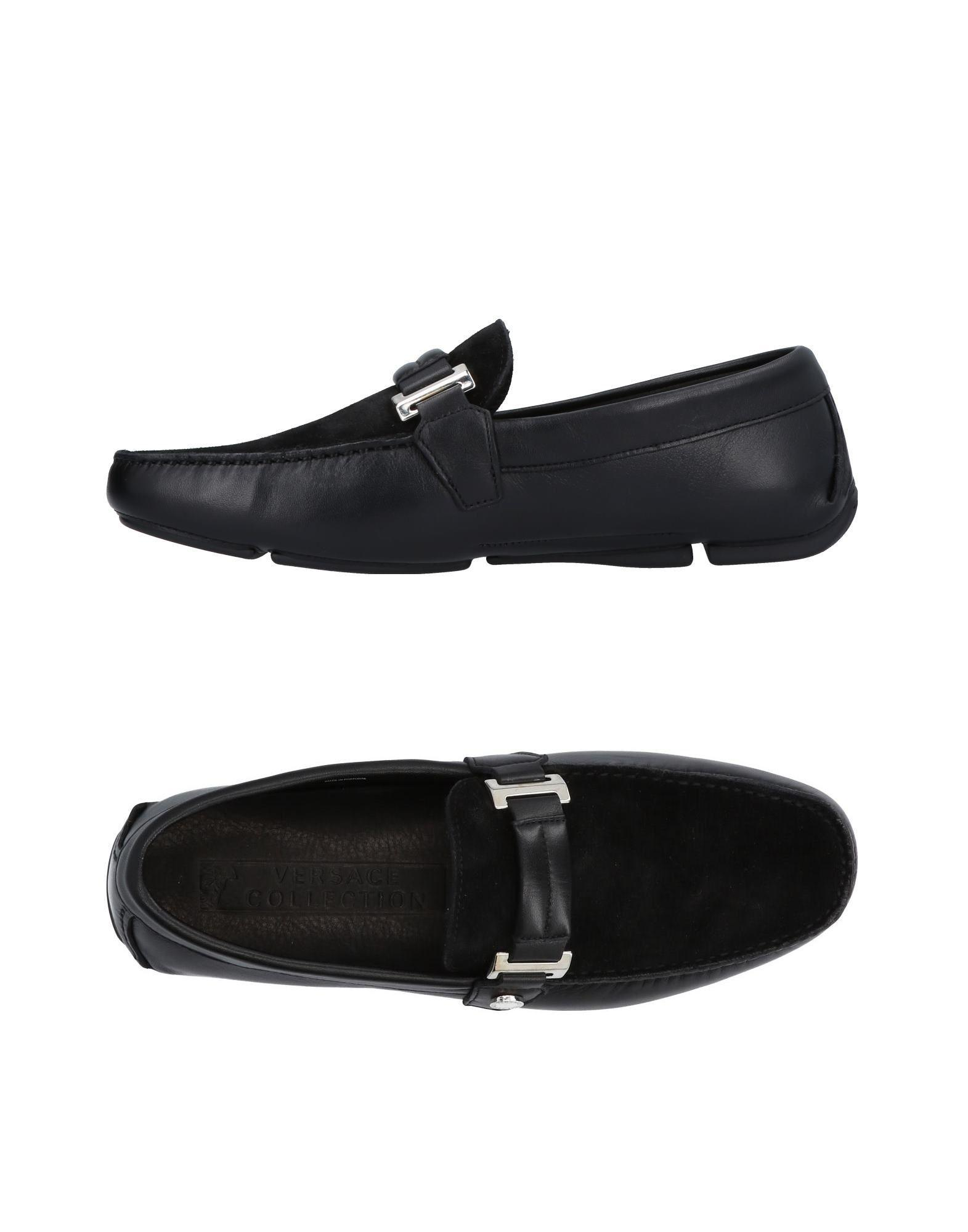 Versace Loafers In Black