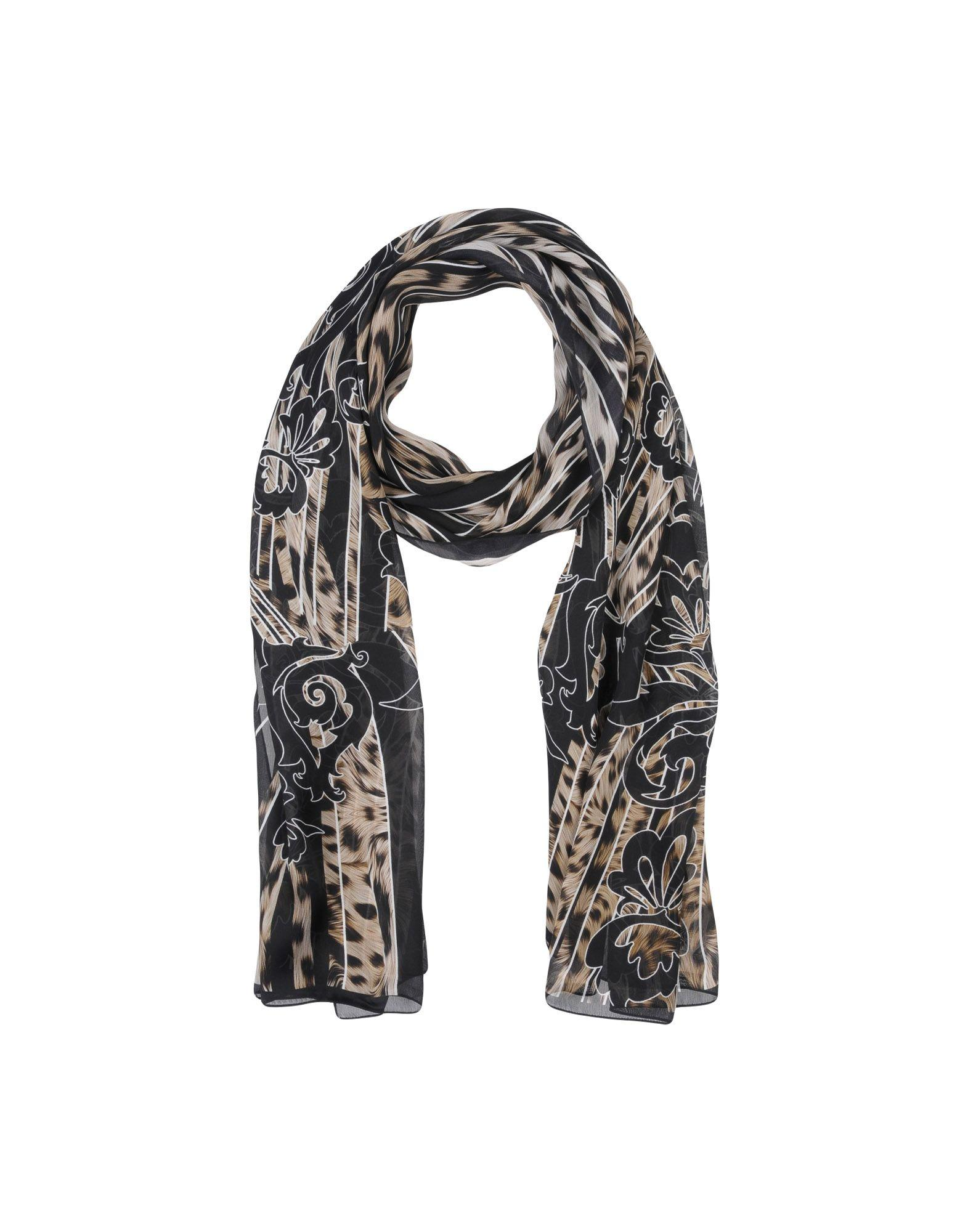 Roberto Cavalli Scarves In Black