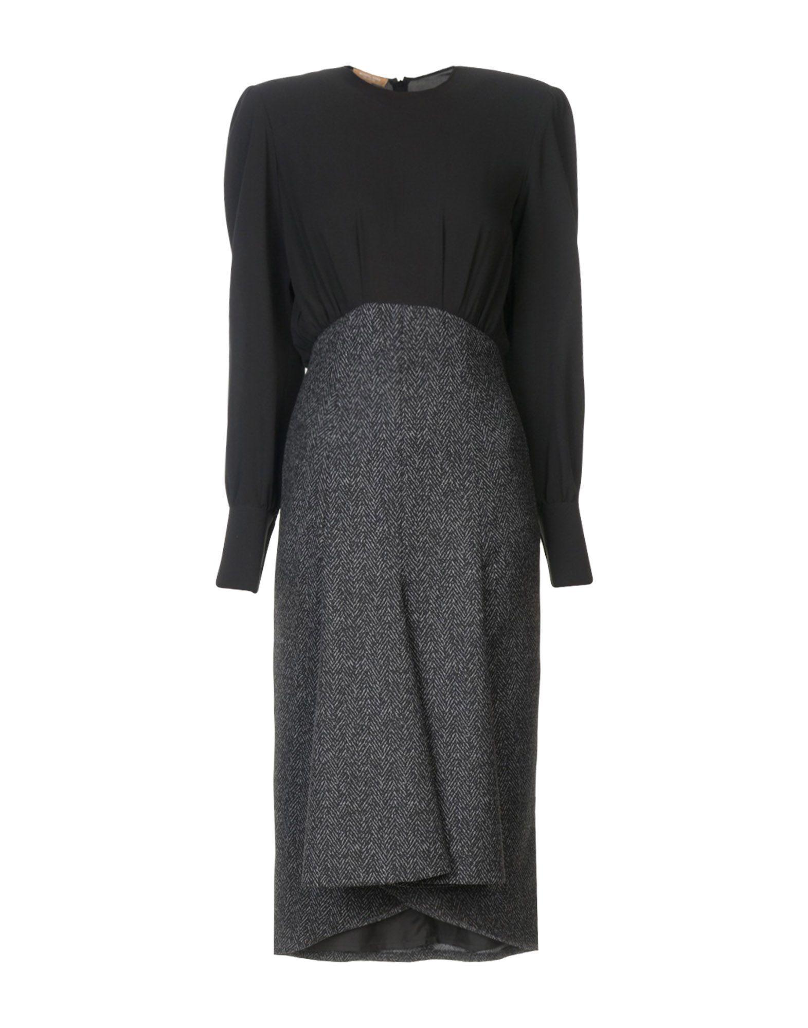 Michael Kors 3/4 Length Dress In Black
