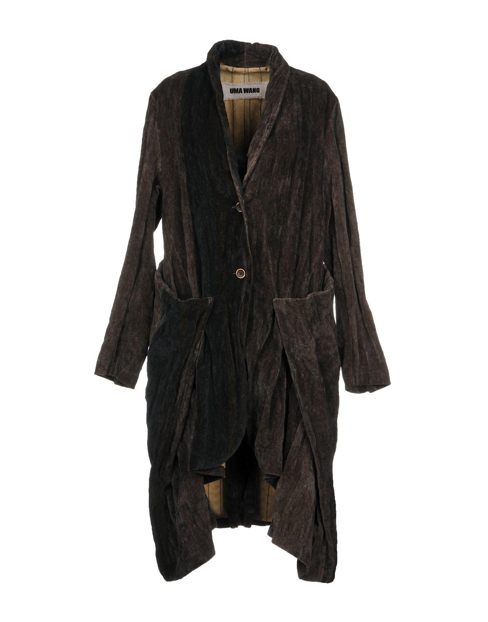 Uma Wang Overcoats In Dark Brown