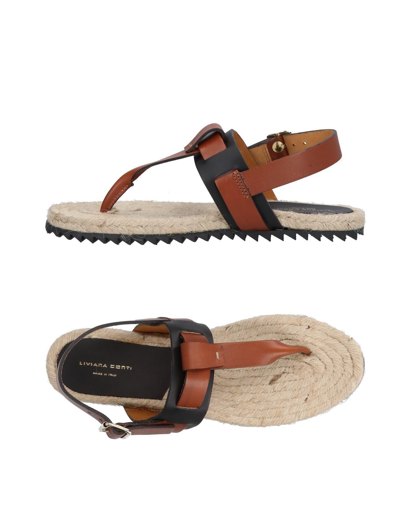 Liviana Conti Toe Strap Sandals In Brown