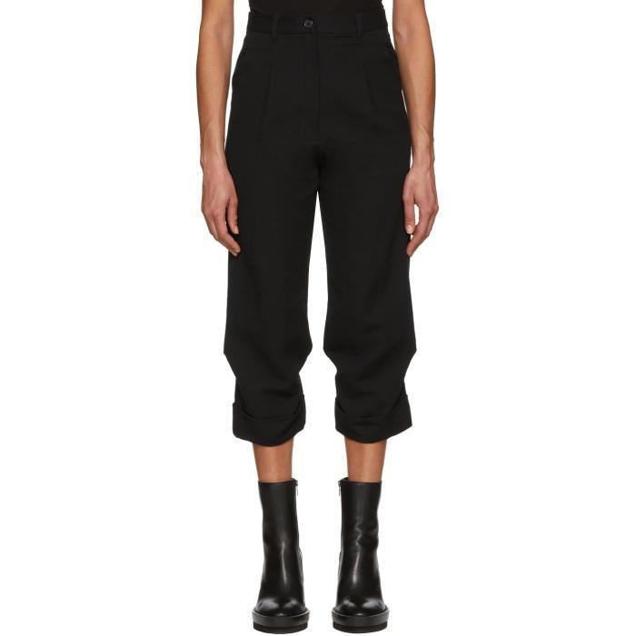 Ann Demeulemeester Black Harbour Trousers In 099 Black