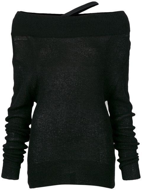 Ann Demeulemeester Lightweight Knit Jumper In 099 Black