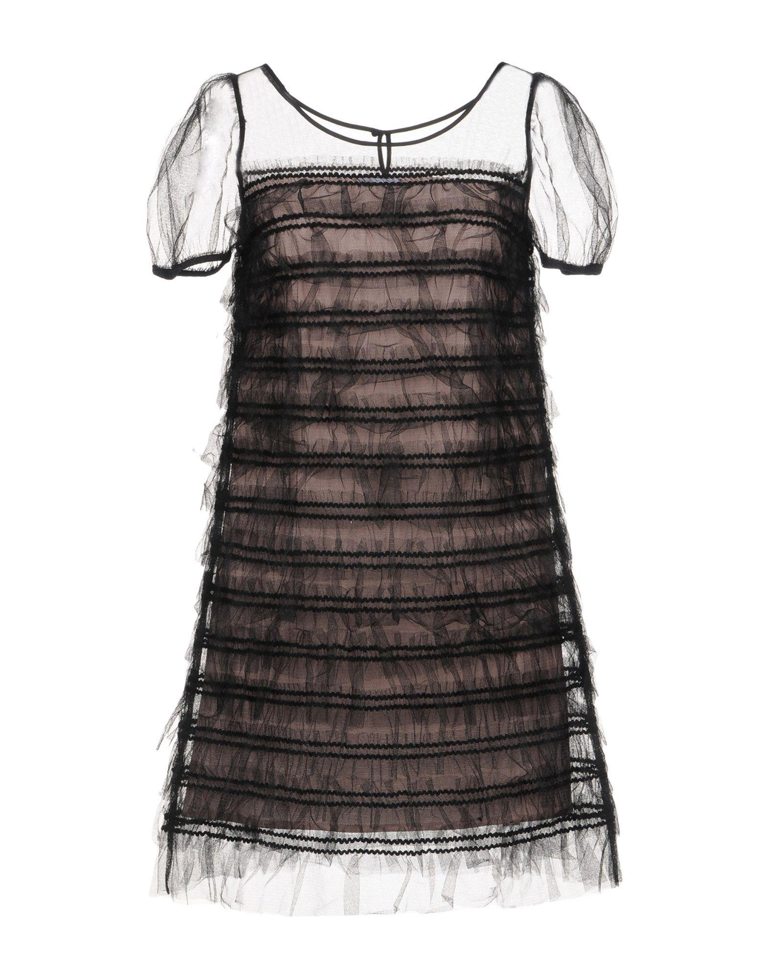 Red Valentino Short Dresses In Black