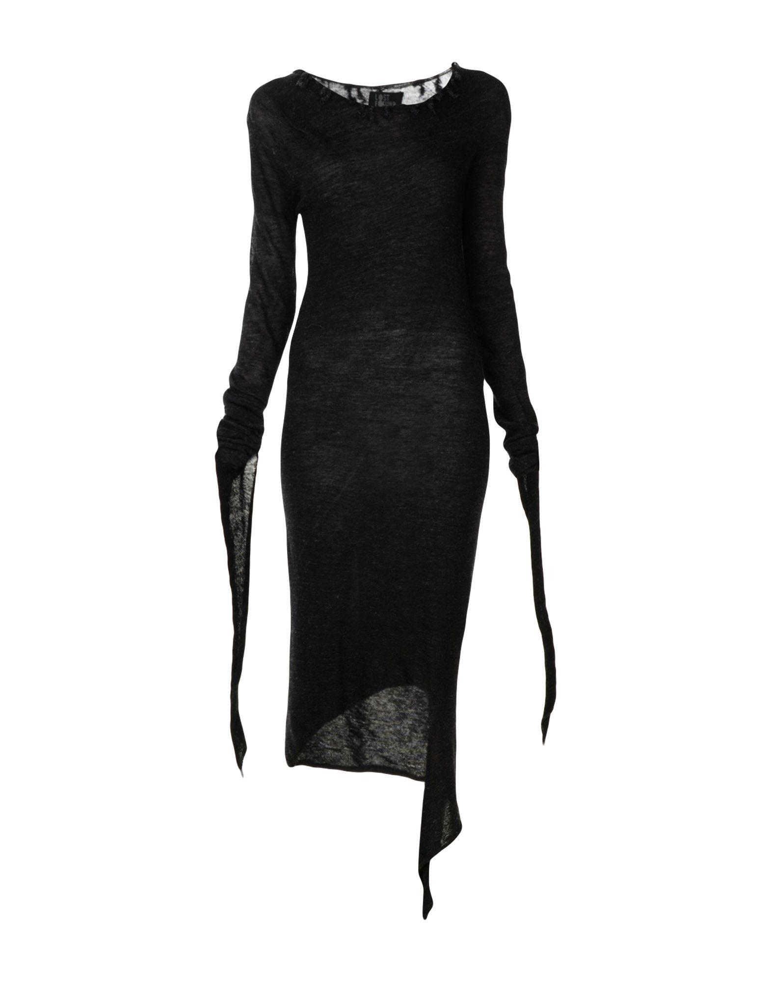 Lost & Found Knee-length Dress In Black