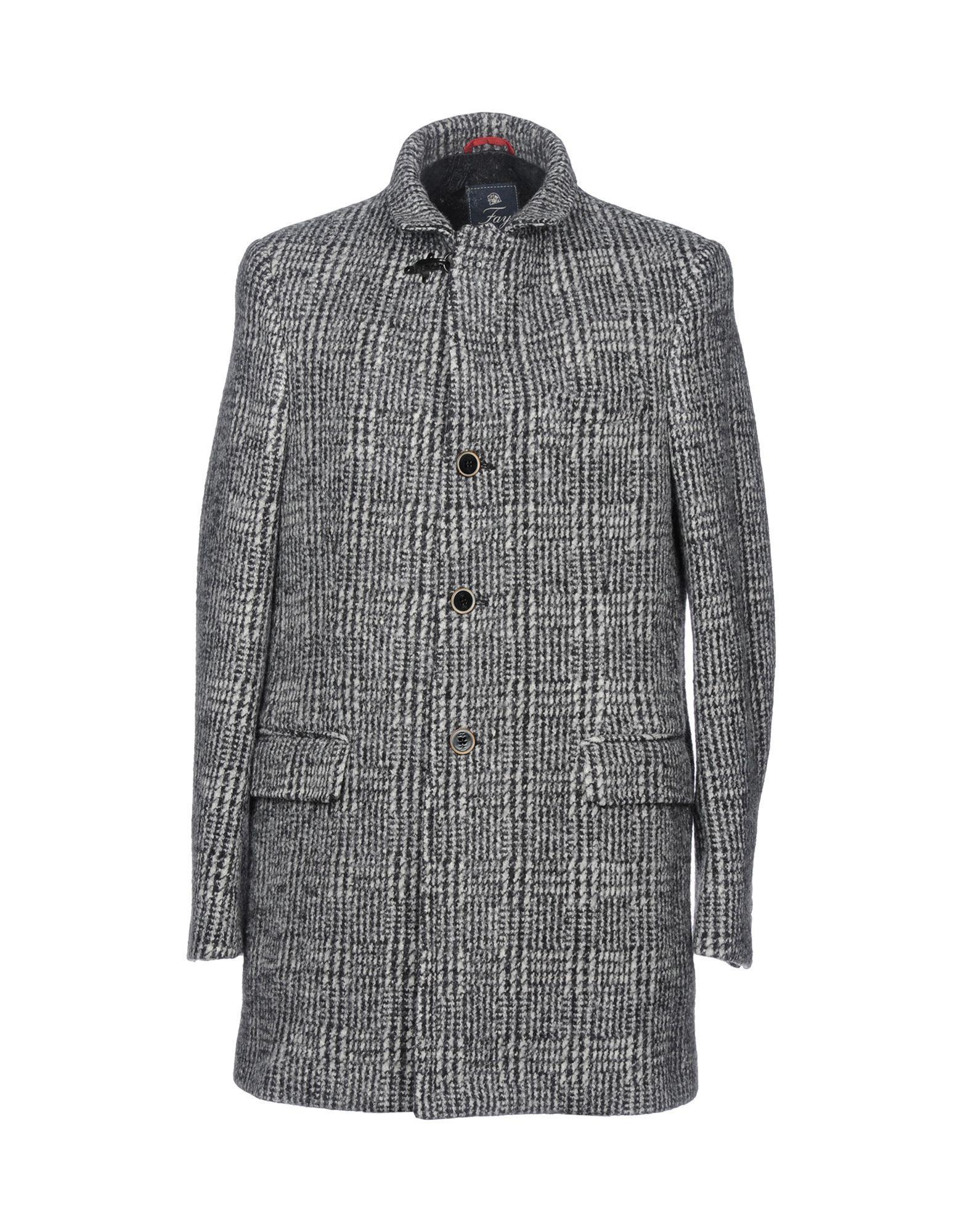 Fay Coats In Grey