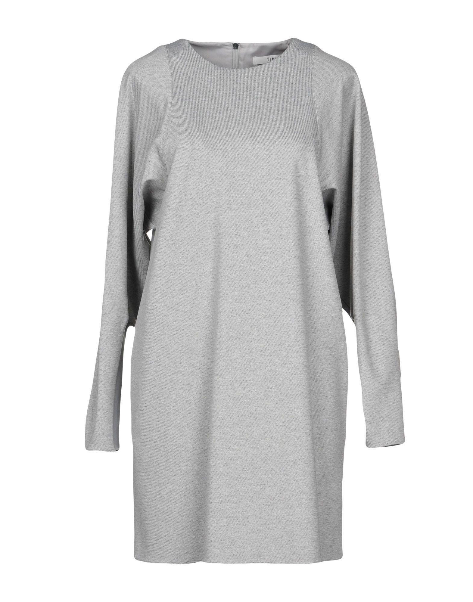 Tibi Short Dresses In Light Grey