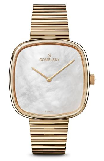 Gomelsky The Eppie Sneed Bracelet Watch, 40mm In Gold/ Mop/ Gold