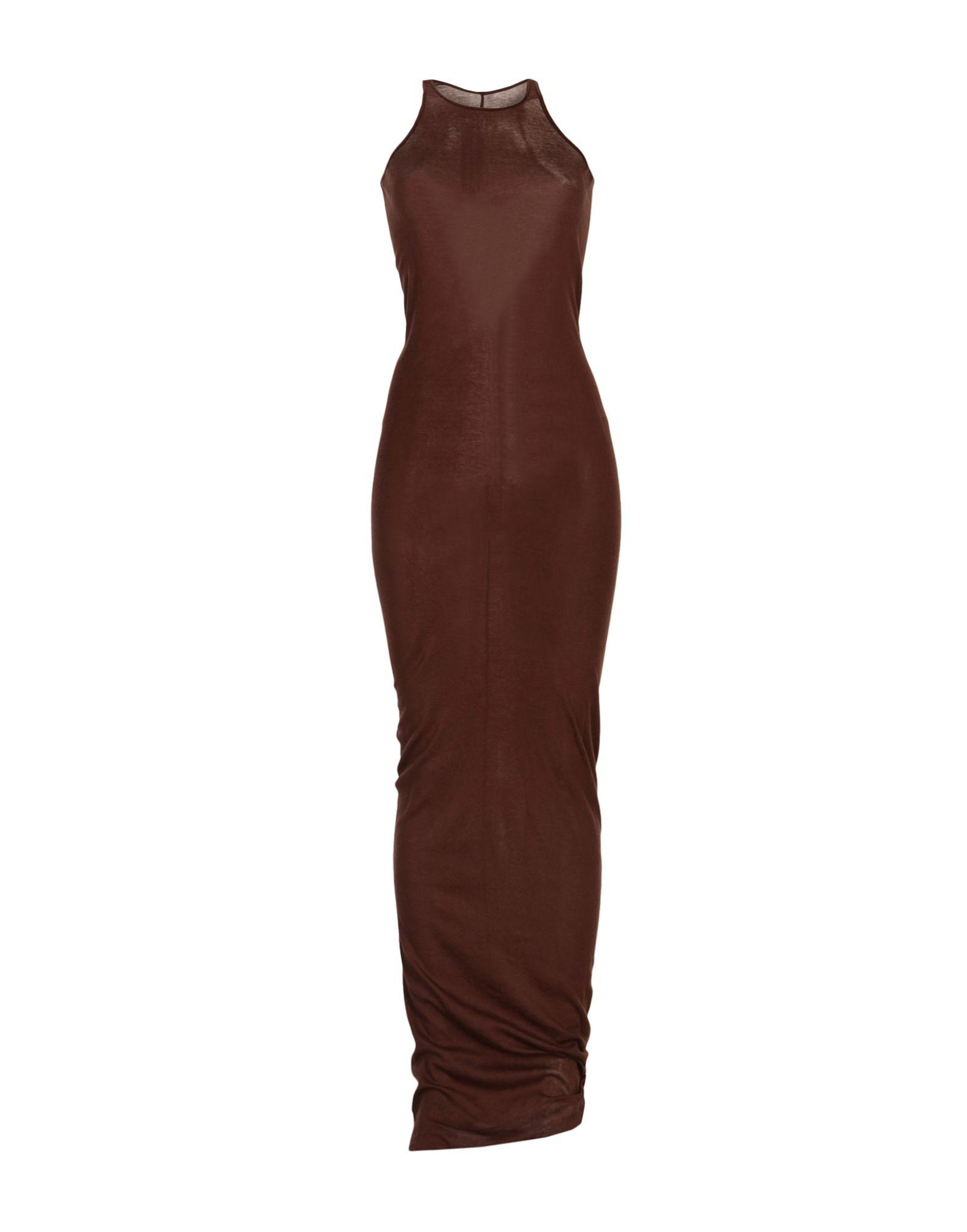 Rick Owens Long Dresses In Cocoa