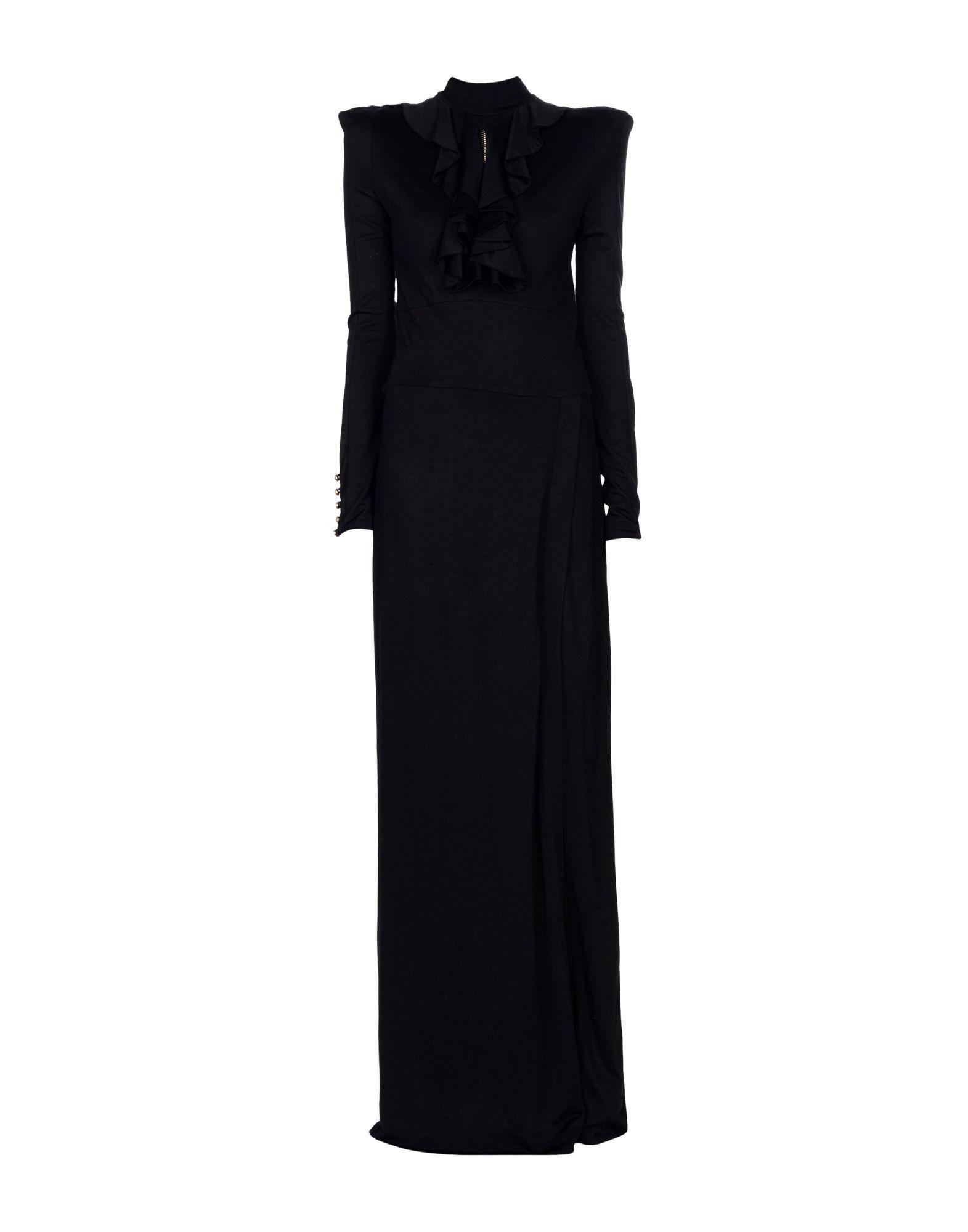 Balmain Long Dresses In Black