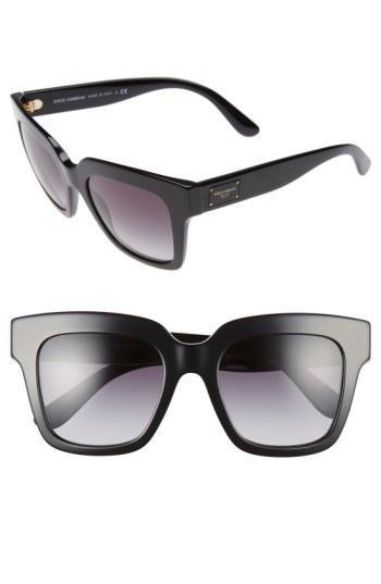 Dolce & Gabbana 51mm Square Sunglasses - Black