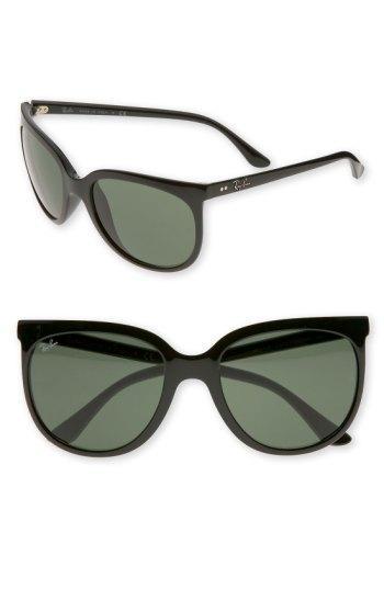 Ray Ban Retro Cat Eye Sunglasses - Black