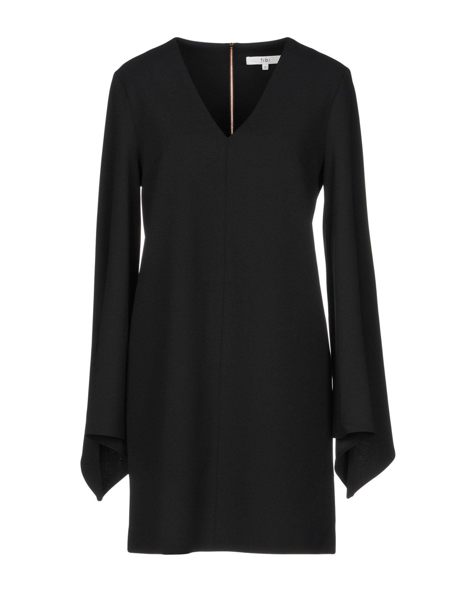Tibi Short Dress In Black
