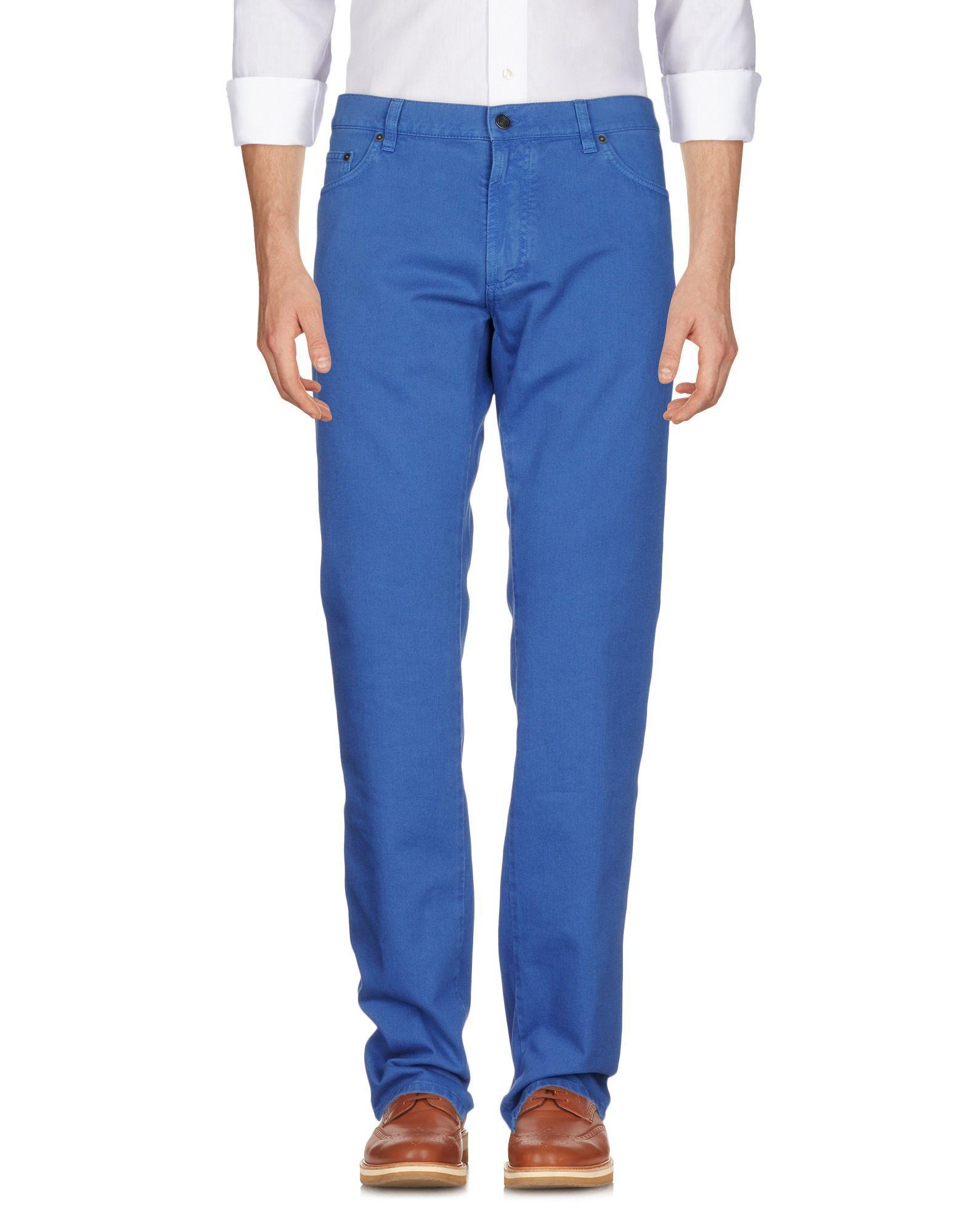Salvatore Ferragamo Casual Pants In Blue