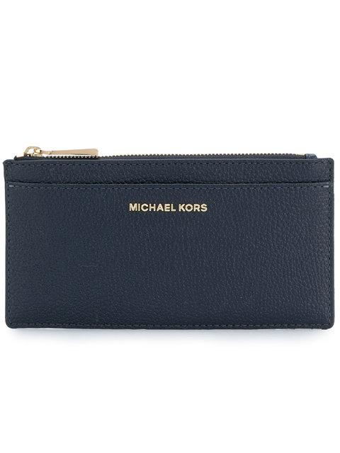 Michael Michael Kors Zipped Coin Purse In Blue