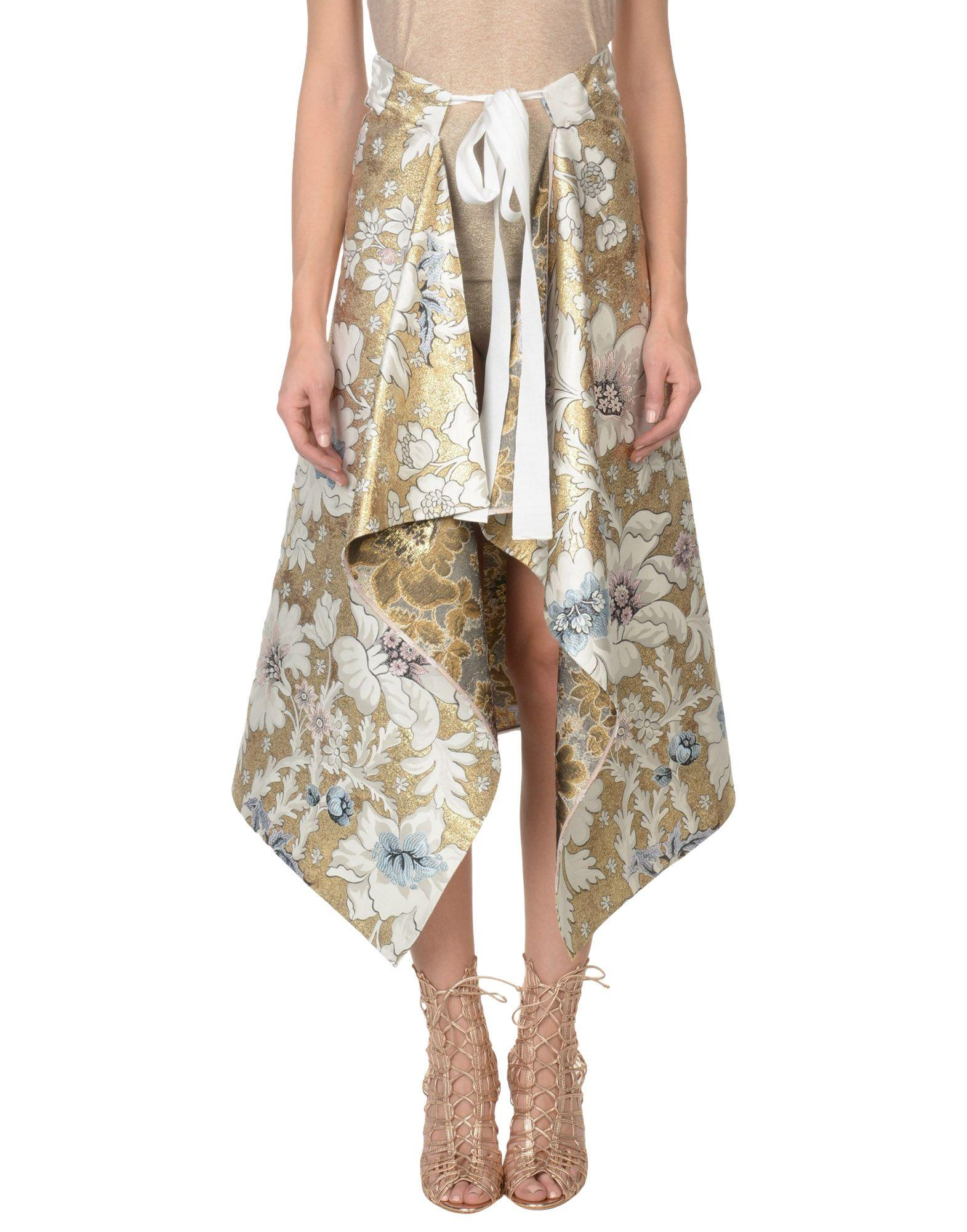 Fendi 3/4 Length Skirt In Gold