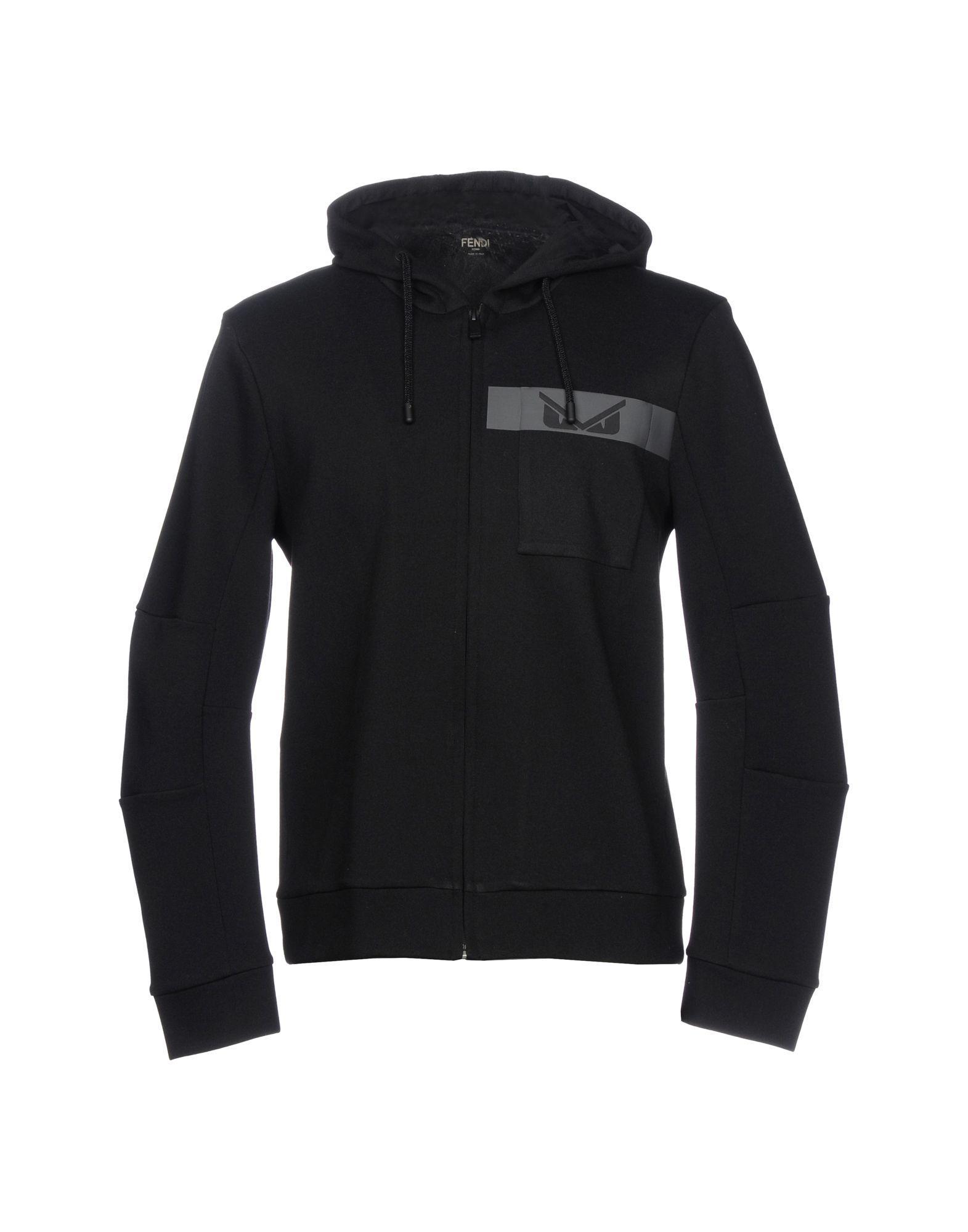 Fendi Sweatshirts In Black