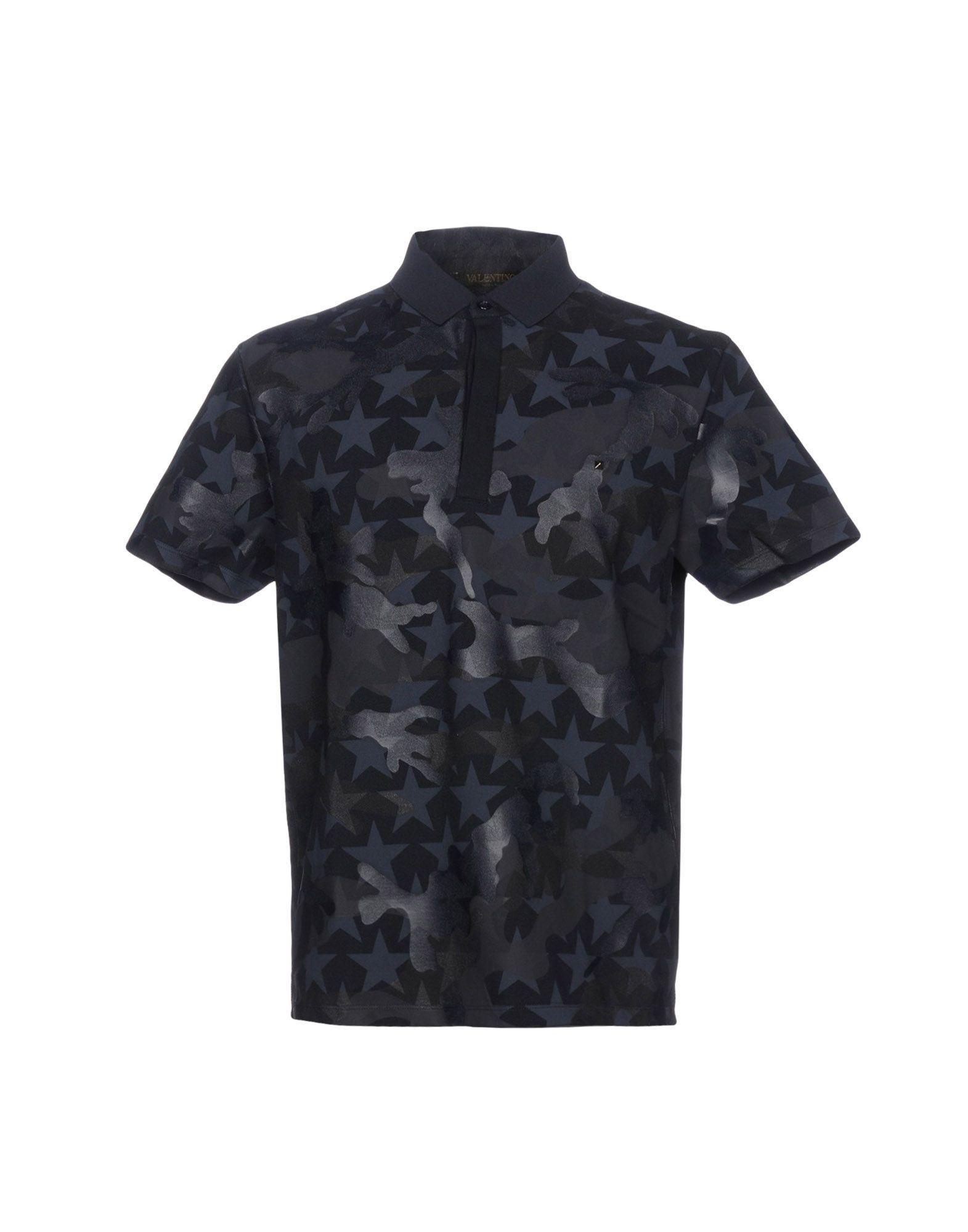 Valentino Polo Shirts In Dark Blue