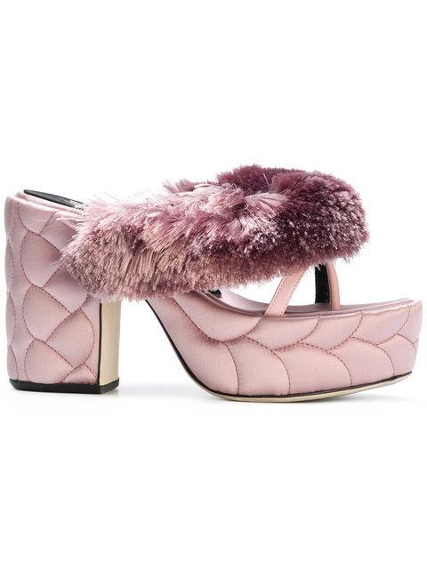 Marco De Vincenzo Textured Platform Sandals
