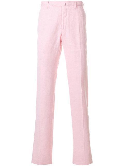Incotex Slim Fit Trousers - Pink
