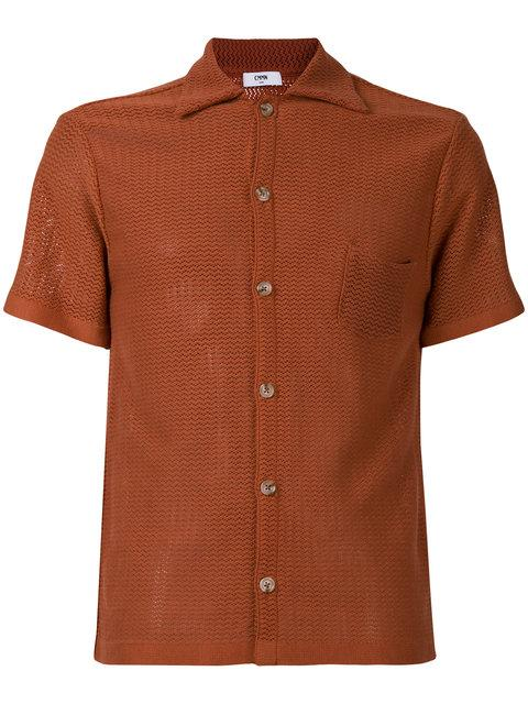 Cmmn Swdn Short Sleeved Textured Shirt