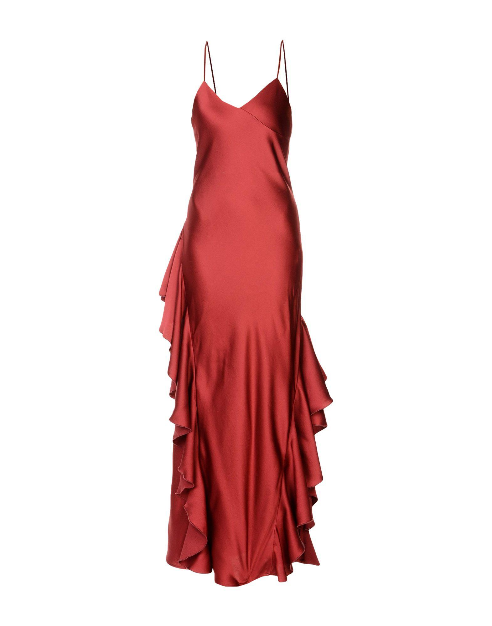Space Style Concept Long Dress In Maroon