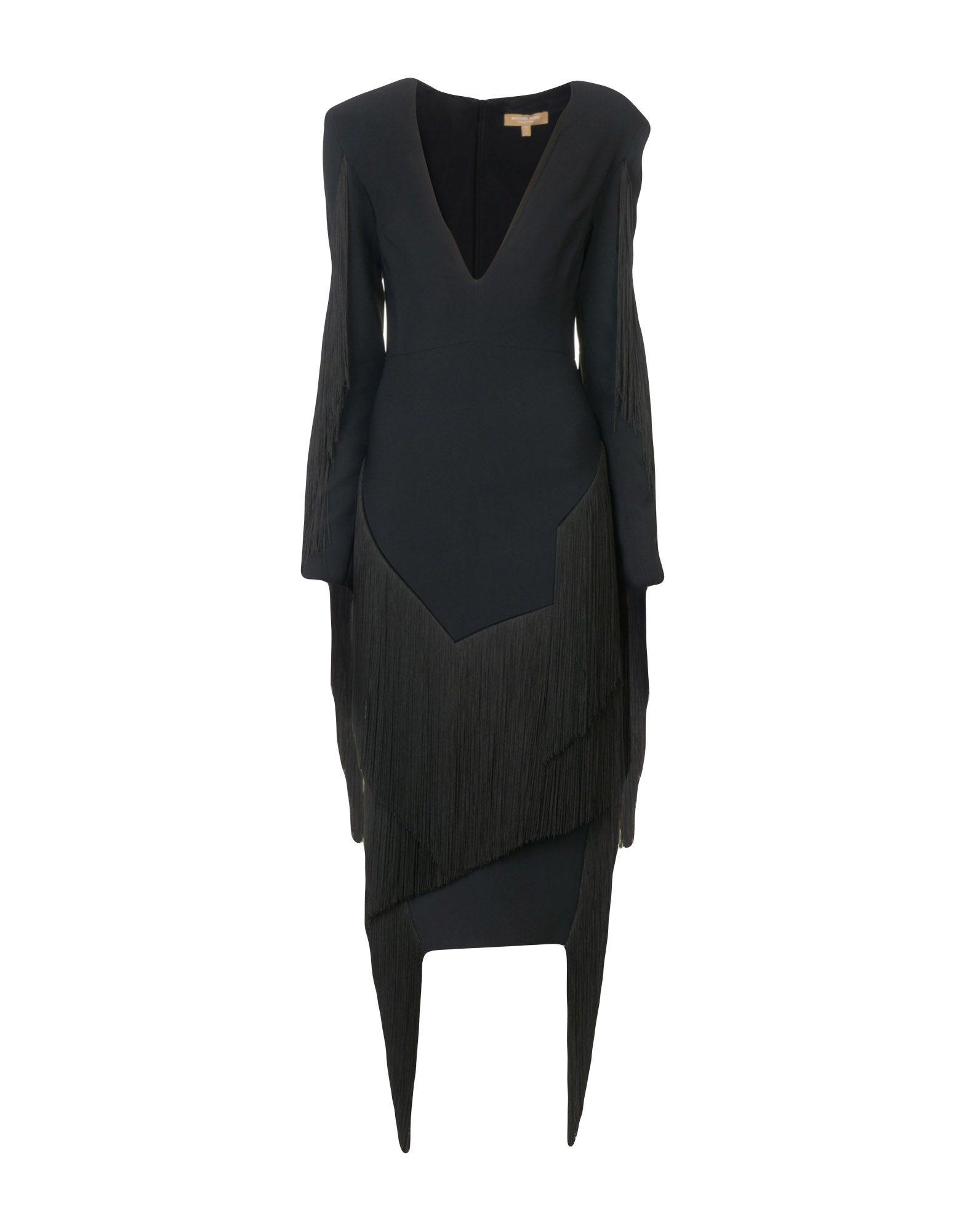 Michael Kors Midi Dress In Black
