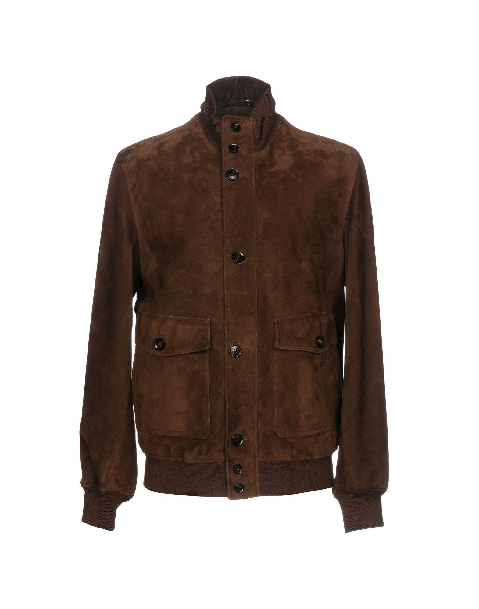 Ermenegildo Zegna Jackets In Dark Brown