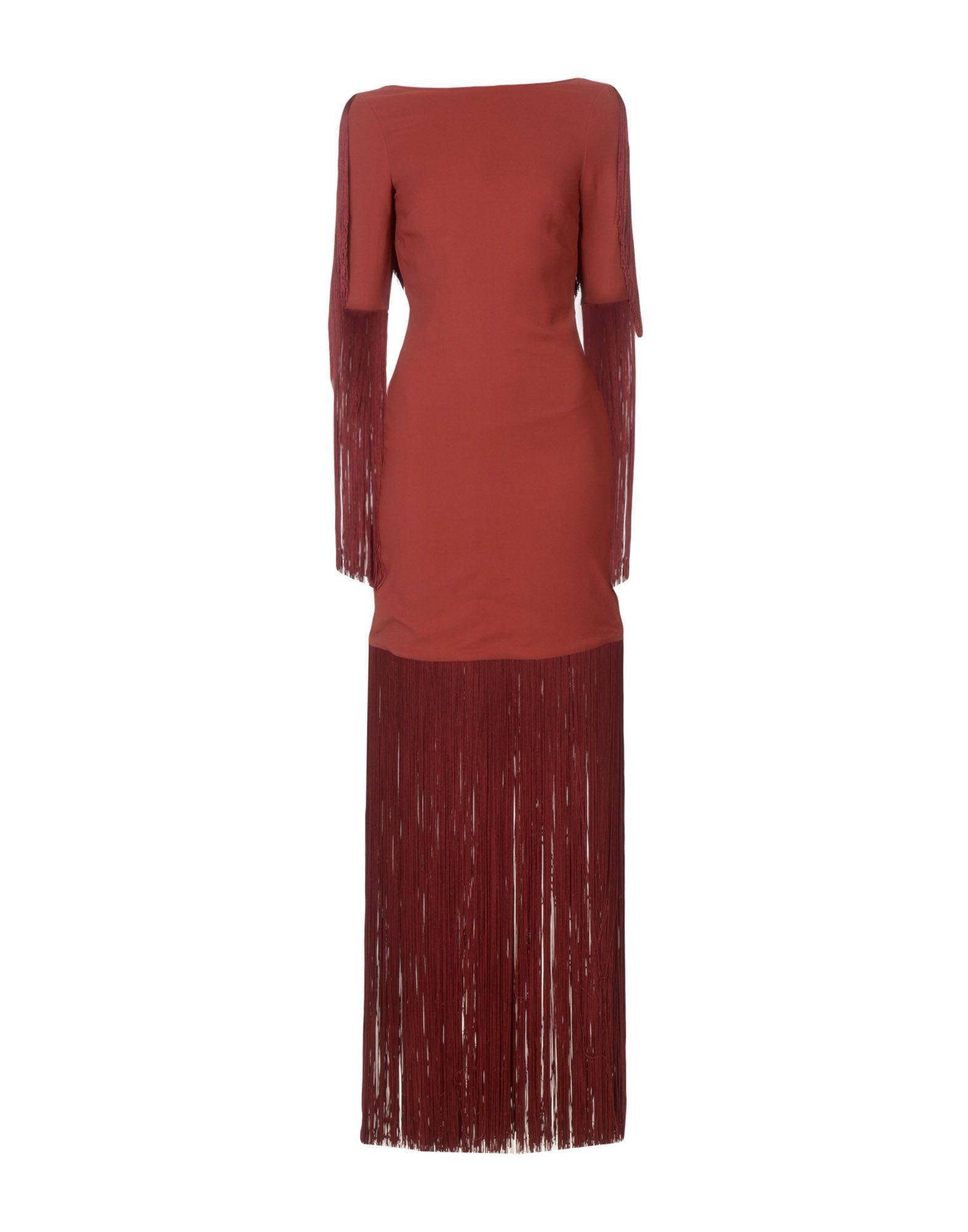 Michael Kors Long Dress In Maroon