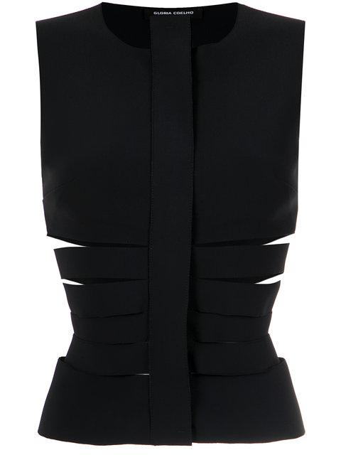 Gloria Coelho Cut Out Gilet - Black