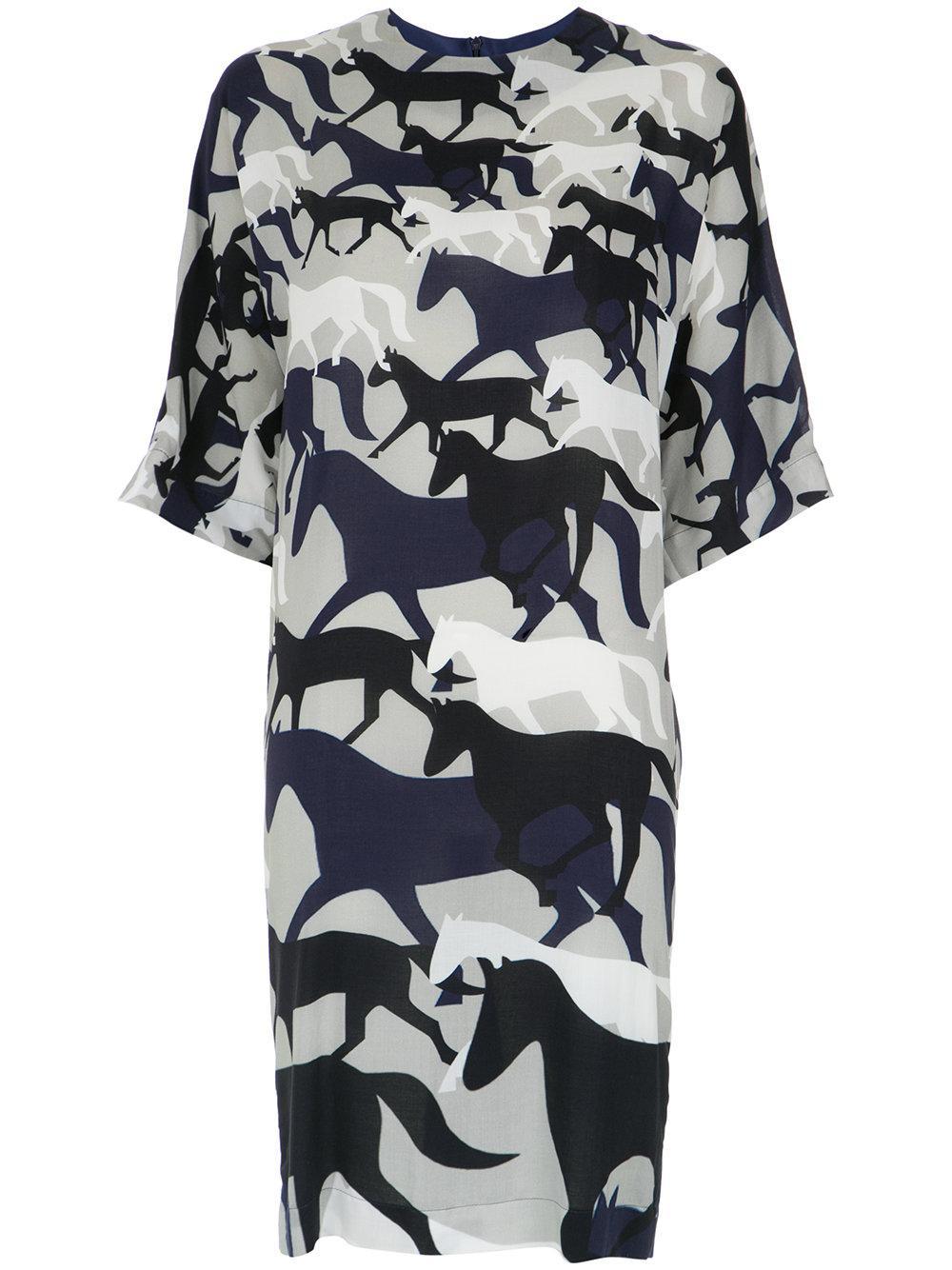 Gloria Coelho Printed Short Dress