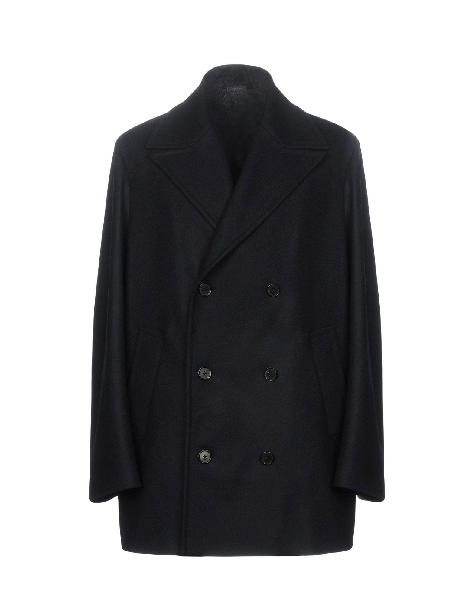 Jil Sander Coats In Dark Blue