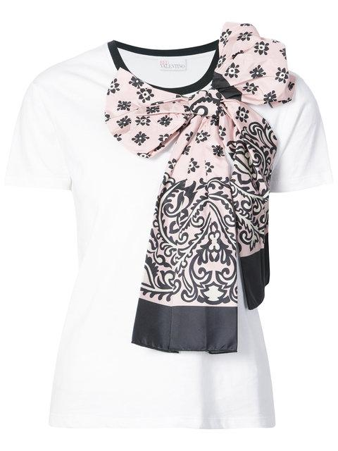 Red Valentino Oversized Bow AppliquÉe T-shirt
