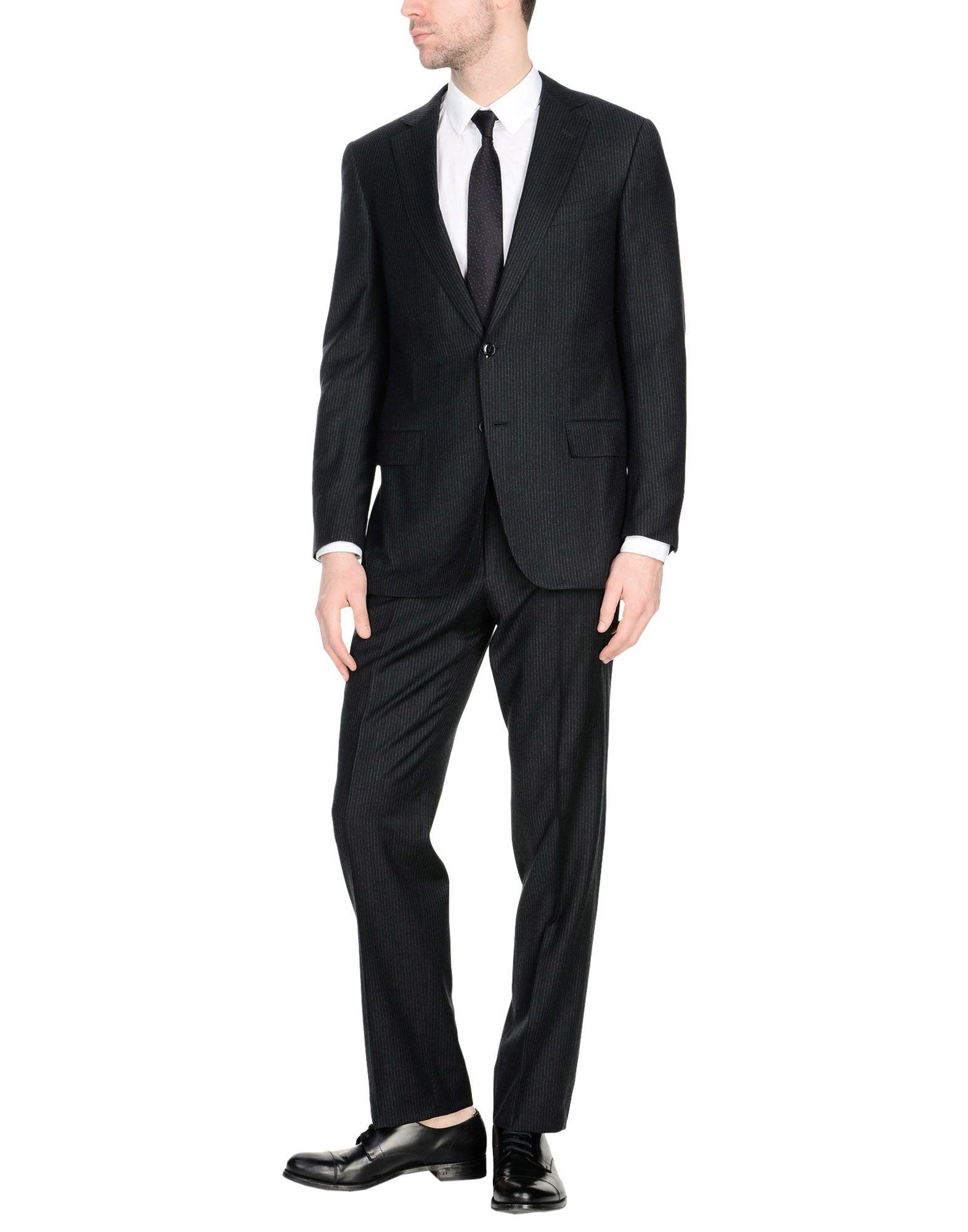 Ermenegildo Zegna Suits In Steel Grey