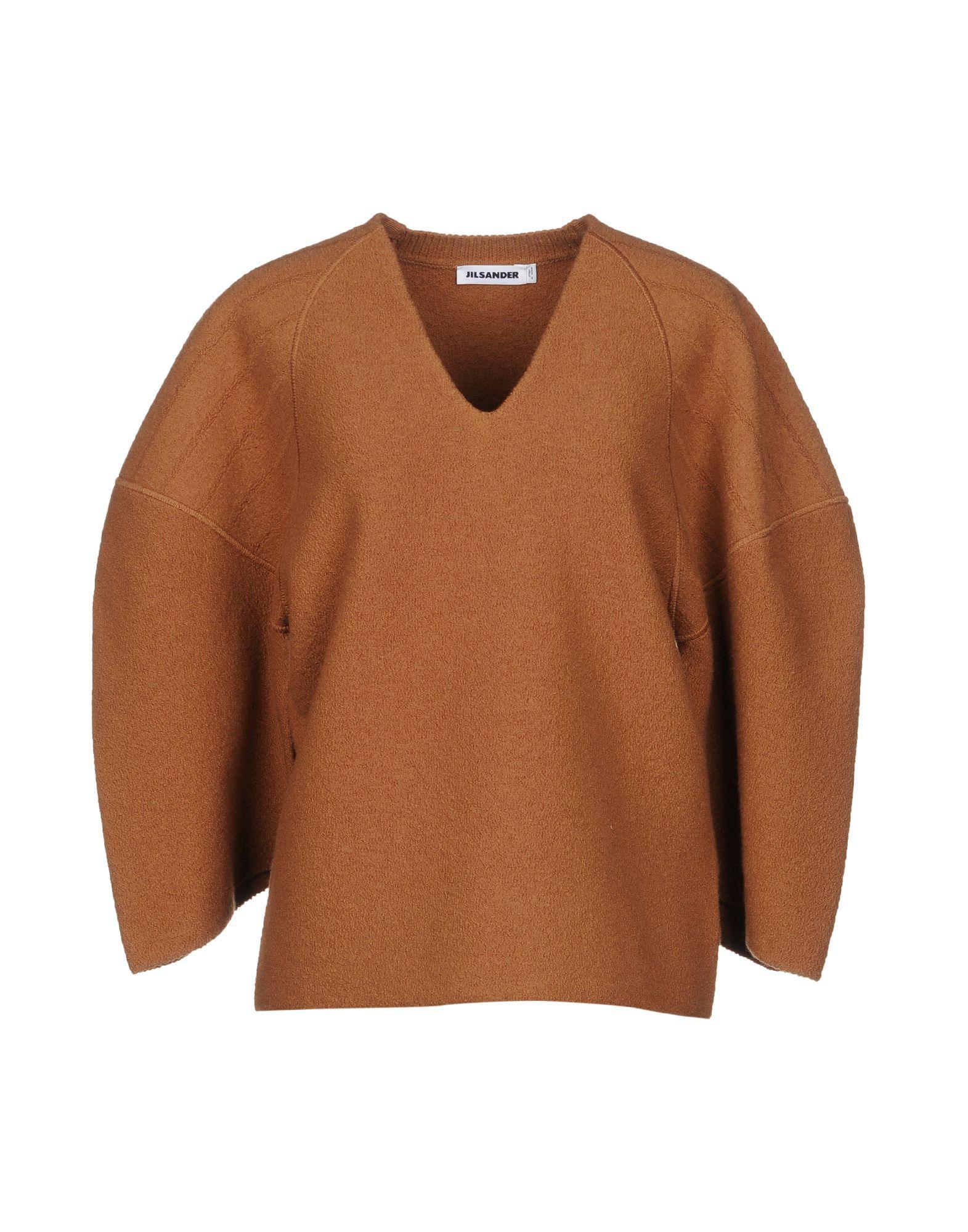 Jil Sander Sweaters In Camel