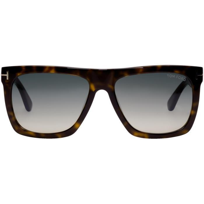 Tom Ford Tortoiseshell Morgan Sunglasses In 52w Hav/blu