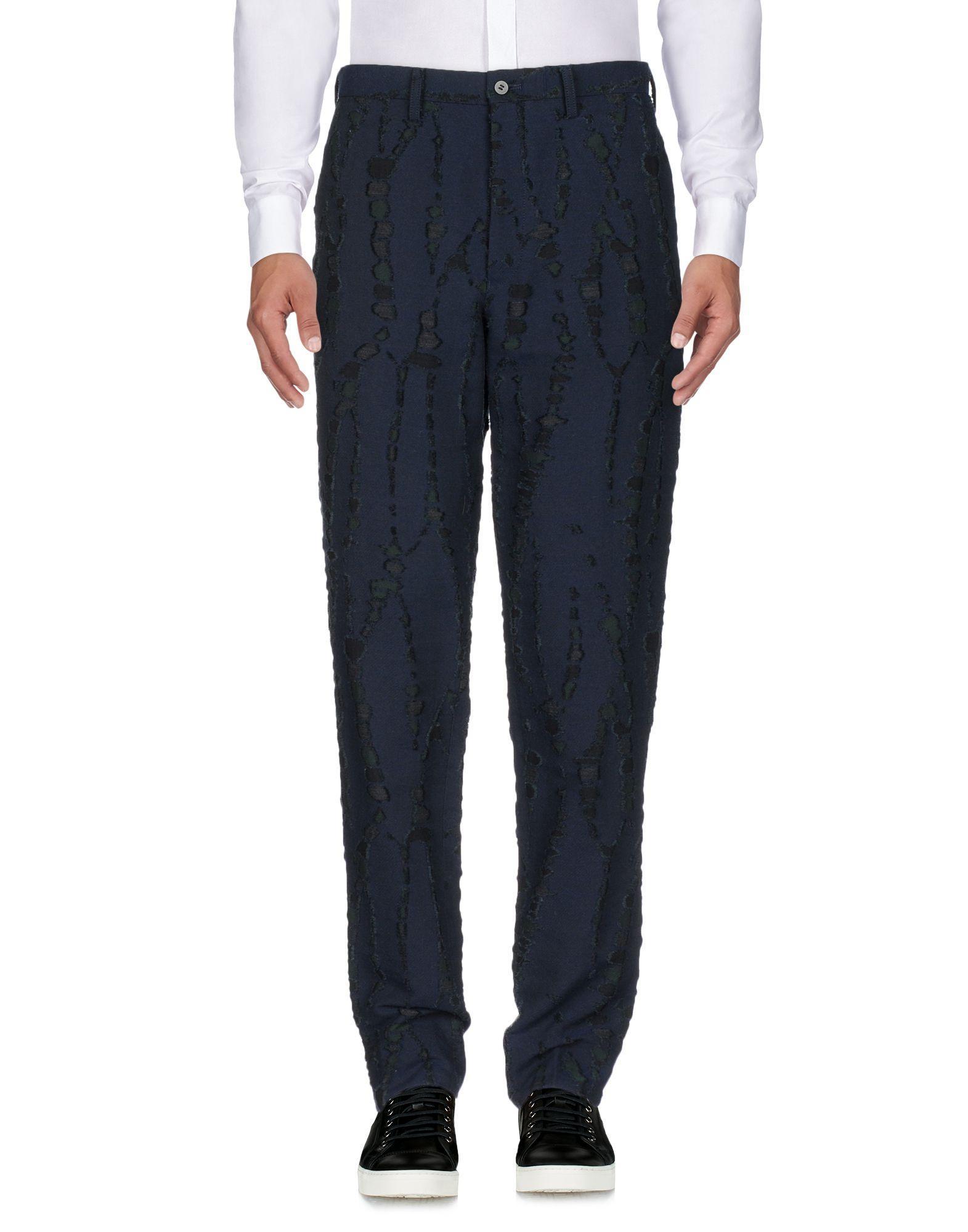 Issey Miyake Casual Pants In Dark Blue