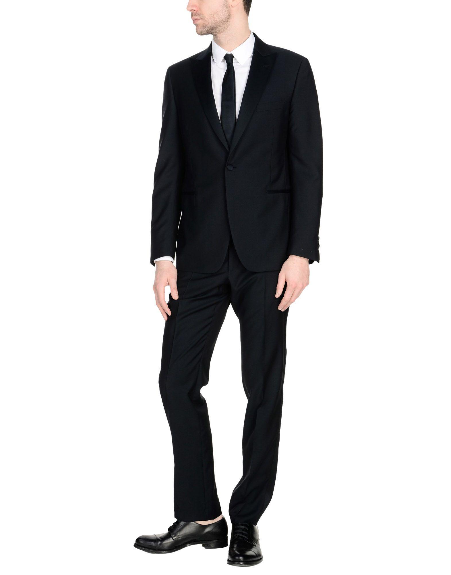 Lardini Suits In Dark Blue