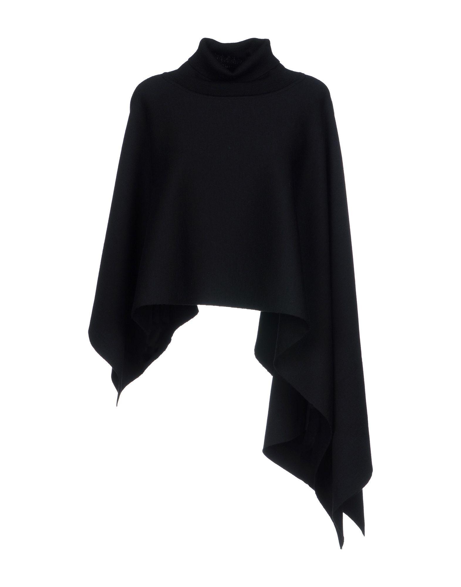 Jil Sander Capes & Ponchos In Black