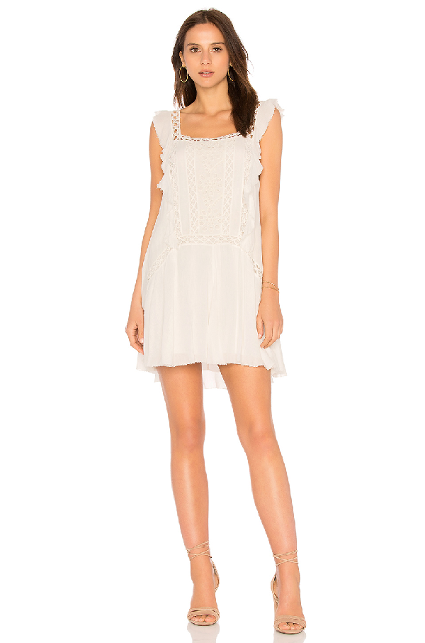 Free People Eyelet Ruffle-trim Dress In White