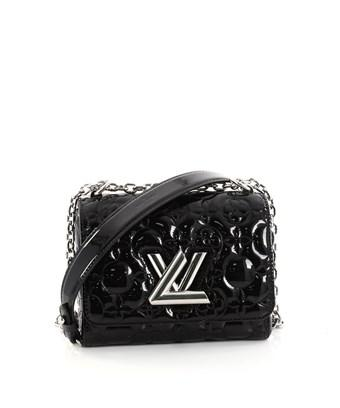 9601e309067a Louis Vuitton Pre-Owned  Twist Handbag Matelasse Patent Pm In Black ...