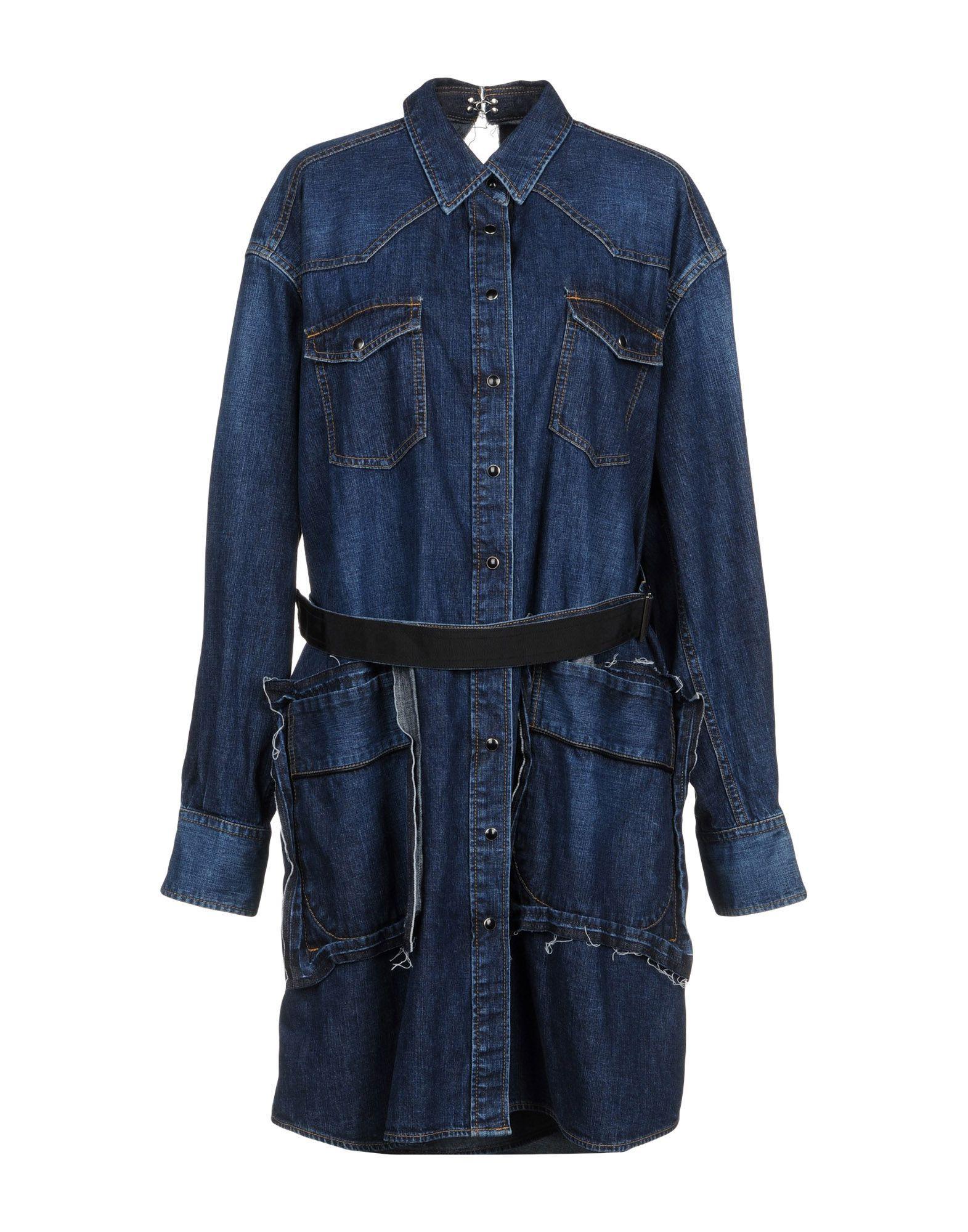 Sacai Denim Outerwear In Blue