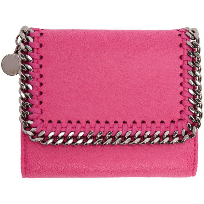 Stella Mccartney Pink Falabella Small Flap Wallet