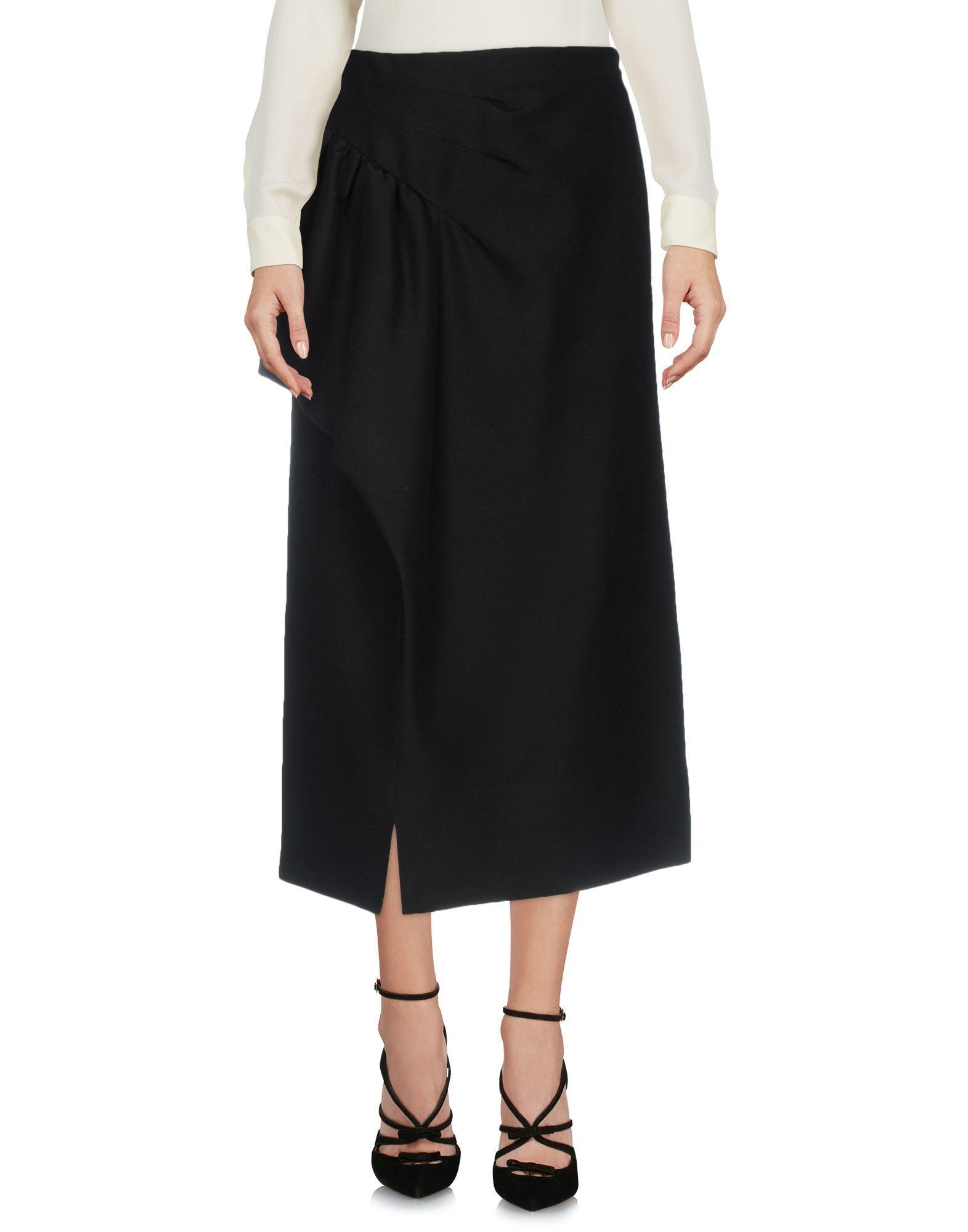 Maison Margiela Midi Skirts In Black