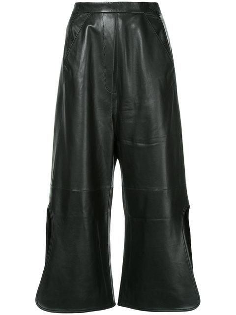 Ellery Convex Wide Leg Trousers - Schwarz In Black